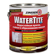 Краска фасадная водоотталкивающая противогрибковая Zinsser WaterTite
