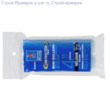 "Мини-валики велюр Contractor Series® 4"" Velour Mini Rollers 2 pack - 3/16"""